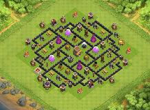 Project's Transformer (Hybrid) TH 8 Clash of Clans Base Layout