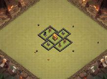 test1 TH 4 Clash of Clans Base Layout