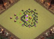 simple TH4 set up TH 4 Clash of Clans Base Layout