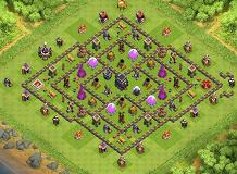 Th9 Trohpy TH 9 Clash of Clans Base Layout