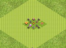 The th1 farming base TH 1 Clash of Clans Base Layout