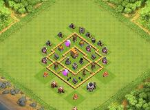 wibooo TH 5 Clash of Clans Base Layout