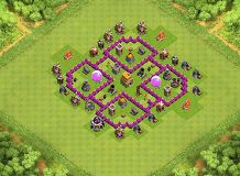 Trophy v2.0 TH 6 Clash of Clans Base Layout