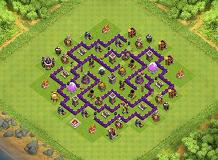 TH 7 WITH DARK ELIXIR DRILL TH 7 Clash of Clans Base Layout