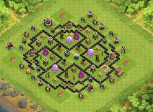 spirale aperta 20.12.14 TH 8 Clash of Clans Base Layout