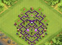 This Is My Heroic Design :) TH 7 Clash of Clans Base Layout