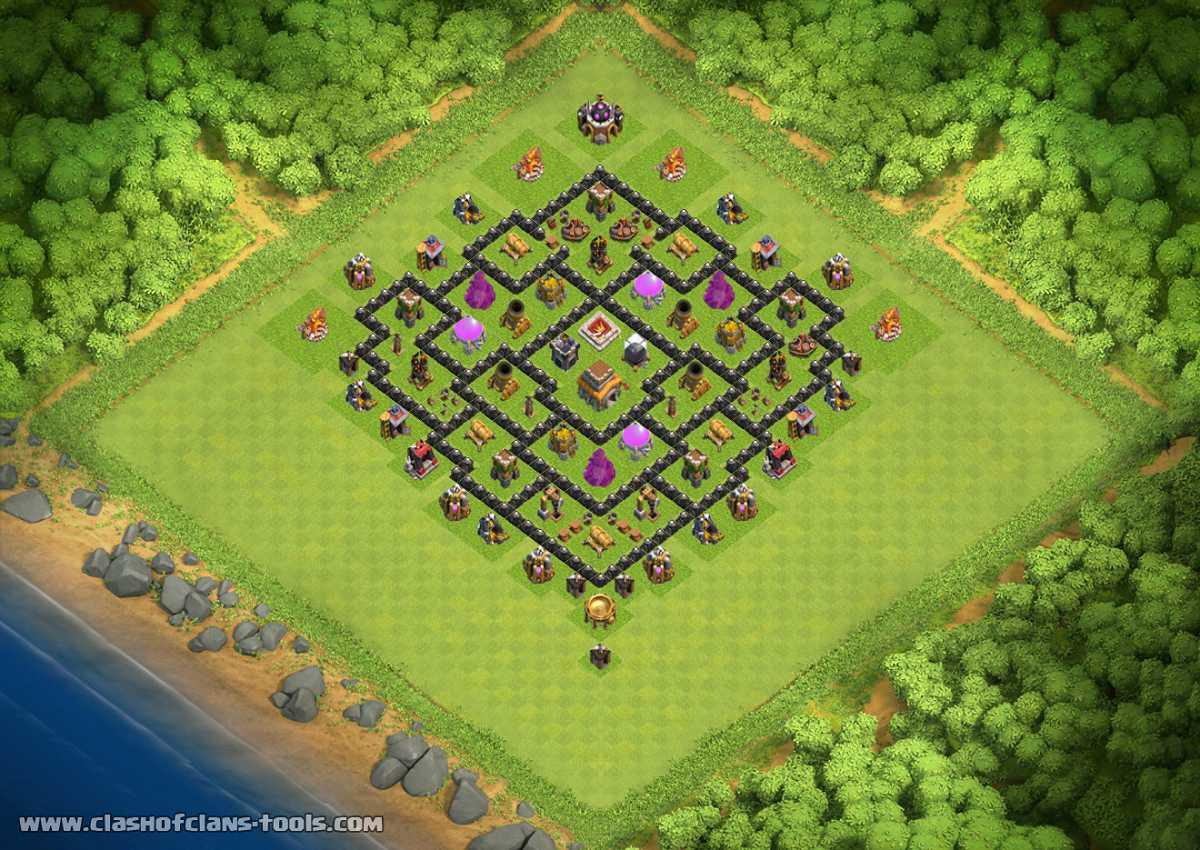 New best trophy war farming or hybrid base th8 u th8 trophies base