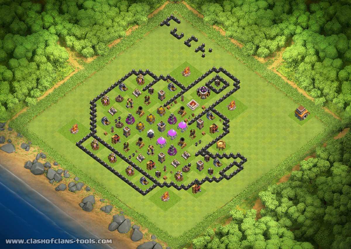 Base Coc Th 8 Farming Terkuat 11