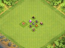 th1 TH 1 Clash of Clans Base Layout