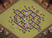 Th7 War Base Without Barbarian King Th7 War Base Base By Eliyas Clash Of Clans