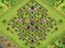 Layout Conpartiments TH 9 Clash of Clans Base Layout