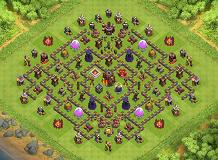 the diamond:layered TH 10 Clash of Clans Base Layout