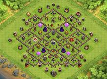 Townhall 9 TH 9 Clash of Clans Base Layout