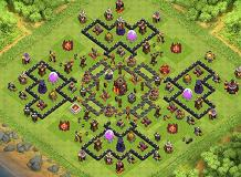 cheap ninja TH 10 Clash of Clans Base Layout