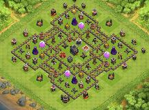 CV 9 Push TH 9 Clash of Clans Base Layout