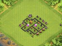 TH 4 Clash of Clans Base Layout
