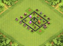 n TH 4 Clash of Clans Base Layout