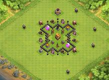 the base TH 4 Clash of Clans Base Layout