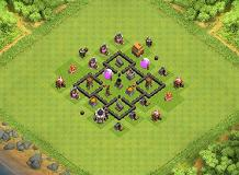 TH4 Base | The Castle TH 4 Clash of Clans Base Layout