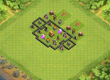 IDK THE NAME TH 4 Clash of Clans Base Layout