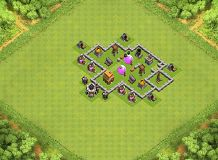 best TH 4 Clash of Clans Base Layout
