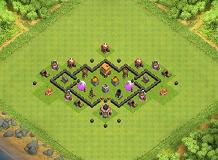 Ultimate TH4 Defense TH 4 Clash of Clans Base Layout