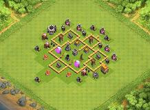 Dragon fire TH 5 Clash of Clans Base Layout