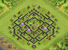 th8 trophy TH 8 Clash of Clans Base Layout