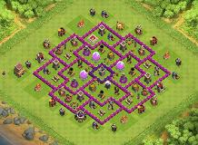 Trophy/Loot TH 8 Clash of Clans Base Layout