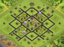 BesT mAp For MuLTy TH8 TH 8 Clash of Clans Base Layout