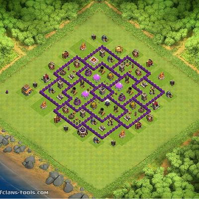 behrouz TH 8 Clash of Clans Base Layout