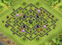 Best Th9 Base Layout 2020 hog round trophy   TH9 Trophies Base by QED_10 | Clash of Clans