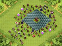 Wall impossible TH 10 Clash of Clans Base Layout