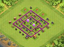 th6 best farming TH 6 Clash of Clans Base Layout