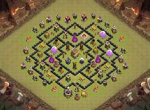 TH8 War Base TH 8 Clash of Clans Base Layout