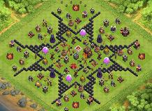 star layout TH 10 Clash of Clans Base Layout