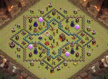 Cool TH 10 Clash of Clans Base Layout