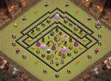 TH8 Black Hole TH 8 Clash of Clans Base Layout