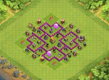 TH6 trohpy TH 6 Clash of Clans Base Layout