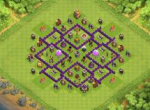 TH7 Farming   Air Sweeper TH 7 Clash of Clans Base Layout
