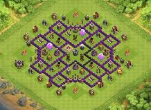 Stolen Base Design TH 8 Clash of Clans Base Layout