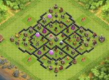 TH8 (Farming) Whit Fan TH 8 Clash of Clans Base Layout
