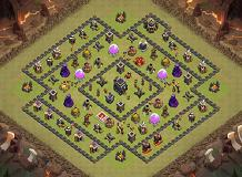 Lui's TH 9 WarBase TH 9 Clash of Clans Base Layout