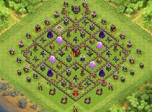Lol TH 10 Clash of Clans Base Layout