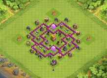 Coc Th 6 Defence Base Layout 5
