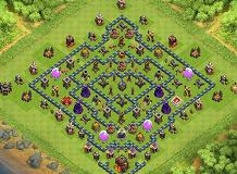 Hard TH10 TH 10 Clash of Clans Base Layout