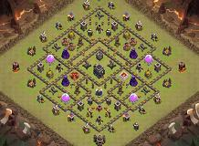 ninja TH 9 Clash of Clans Base Layout