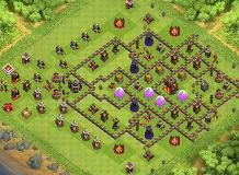 Sinkhole TH 10 Clash of Clans Base Layout