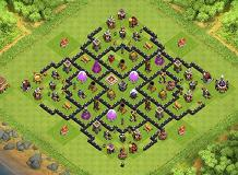 Number 1 TH 8 Farming TH 8 Clash of Clans Base Layout
