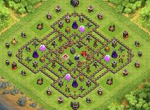 dwacbvgswfw TH 9 Clash of Clans Base Layout